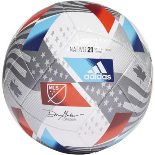 adidas MLS Training Ball - White/Silver