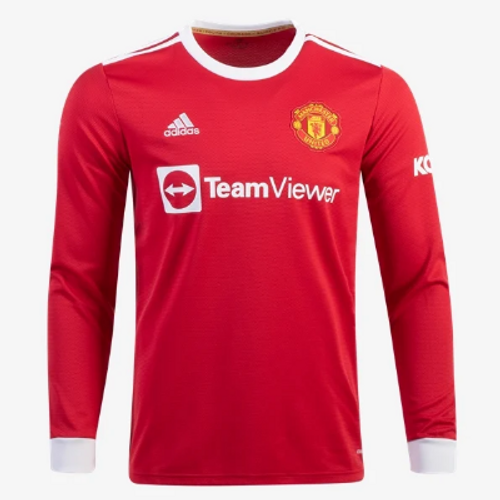 adidas Manchester United Home LS Jersey 21/22