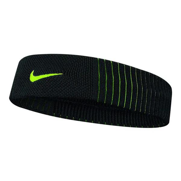 Nike Dri-Fit Reveal Headband -  Black/Volt
