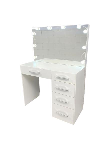 Vanity makeup glam light mirror desk white princess houston furniture blanco mueble espejo
