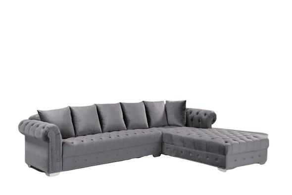 Blue modern furniture  velvet sectional seccional azul  mueble moderno L shape comfortable soft shiny  houston katy richmond spring affordable