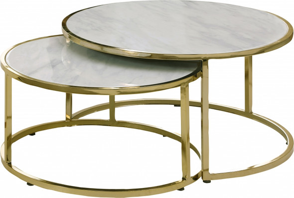 Circle Gold Marble Table