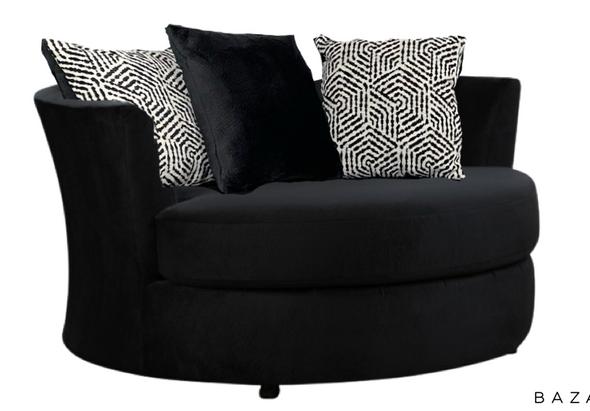 8642/1025 Jamba Black Swivel Chair