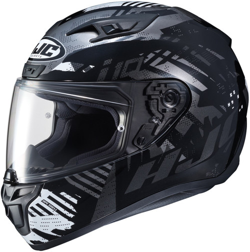 HJC I10 FEAR BLACK WHITE HELMET