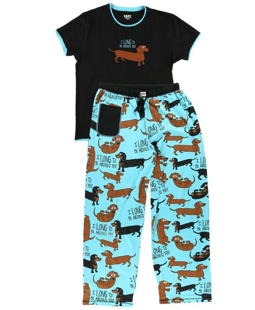 long to be around you lazy one pajamas dachshund