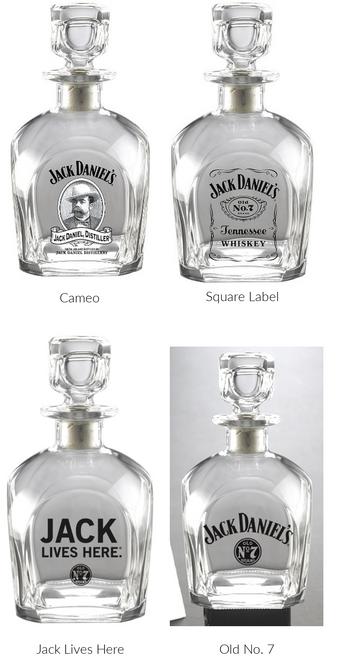 jack daniels decanters