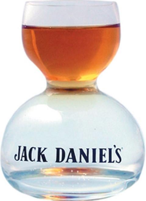Jack Daniels whiskey on water glass