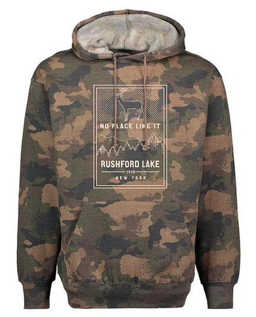 rushford lake camo hoodie
