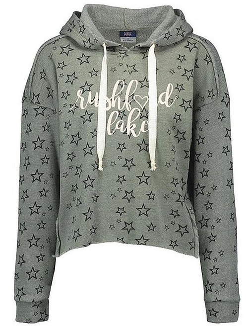 rushford lake starry cropped hoodie