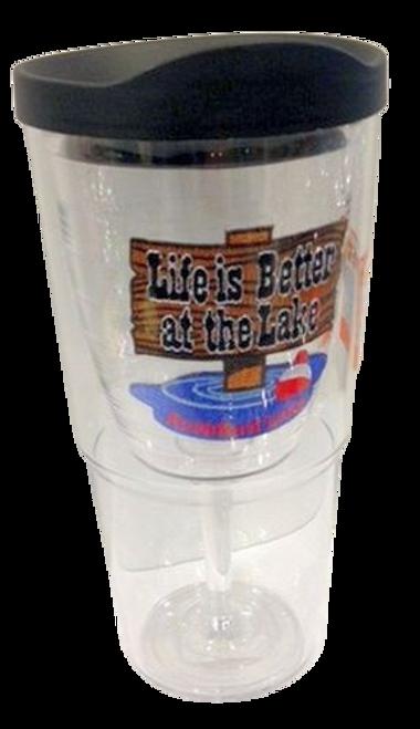 Rushford Lake Tervis Wine Goblet Tumbler
