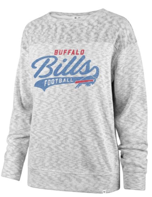 Buffalo Bills Sport Script White Out Ladies Crew