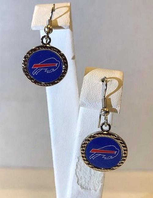 Buffalo Bills Round Earrings