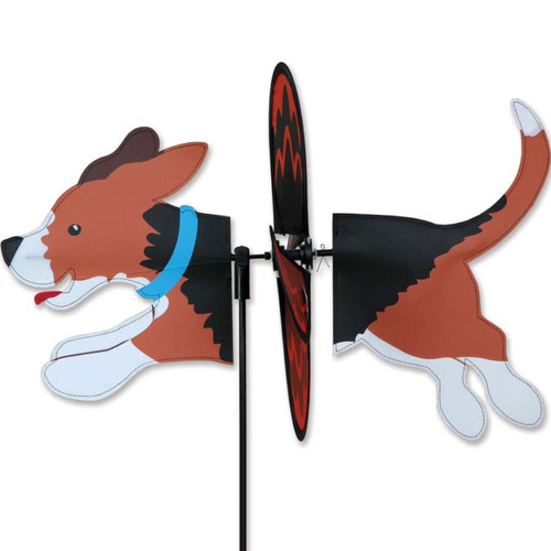 beagle wind spinner The wings are pre-glued so you won't be picking up pieces after a big wind Made from durable polyester rip-stop Size: 19 x 9.75 in.  Diameter: 12.5 in.