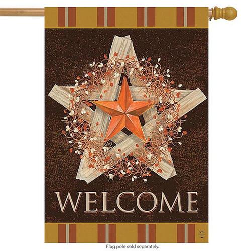 Autumn Barn Star Flag