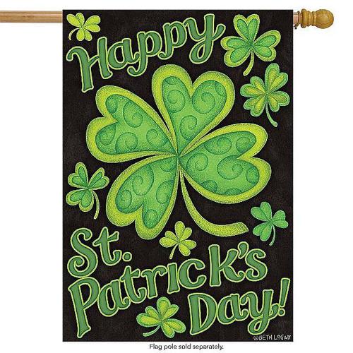 Happy St Patrick's Day House Flag