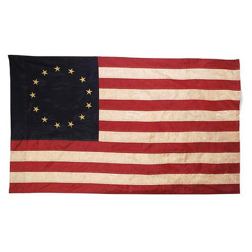 USA Tea Stained 13 Star Colonial House Flag