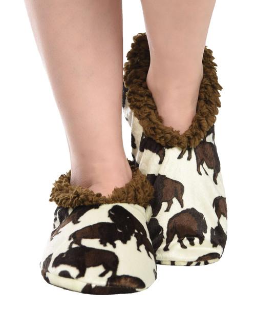 Buffalo Fuzzy Feet Slippers
