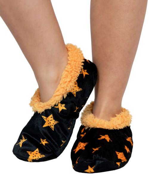Stars Fuzzy Feet Slippers