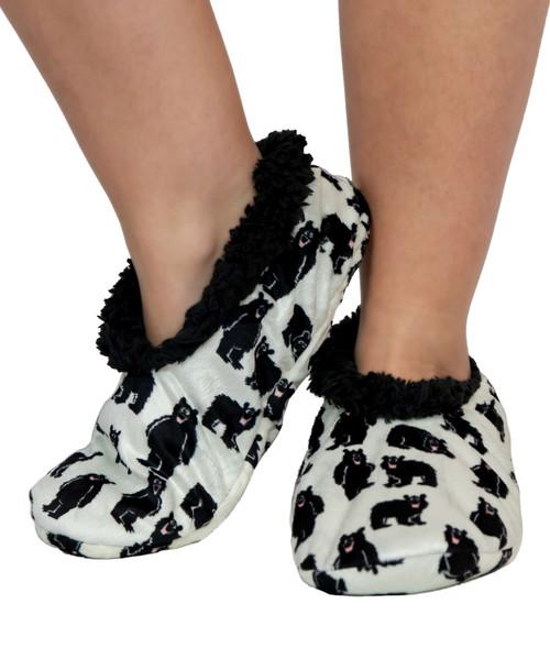 Family Bear Fuzzy Feet Slippers
