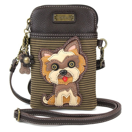 Yorkie Cell Phone Crossbody Bag
