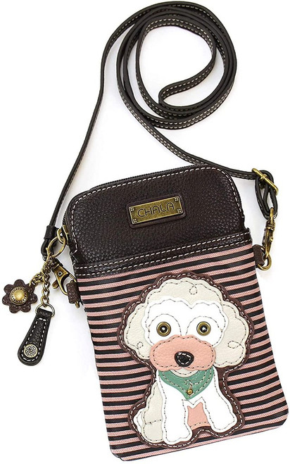 Poodle Chala Cell Phone Crossbody Bag