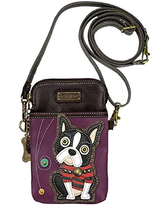 boston terrier chala Cell Phone Crossbody Bag