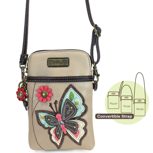 Butterfly chala Cell Phone Crossbody Bag