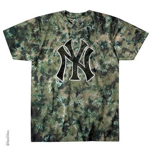 New York Yankees Camo Short Sleeve T-Shirt