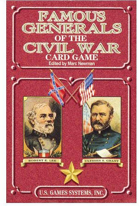 Famous Generals of the Civil War Playing Cards