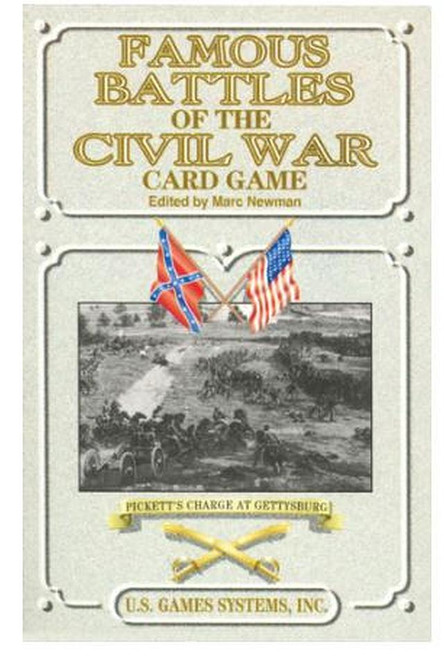 Famous Battles of the Civil War Playing Cards