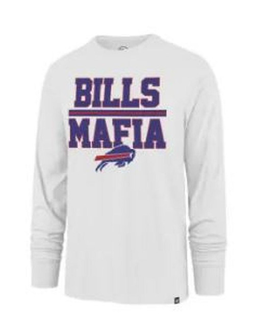 Buffalo Bills Mafia White Wash Long Sleeve T-Shirt