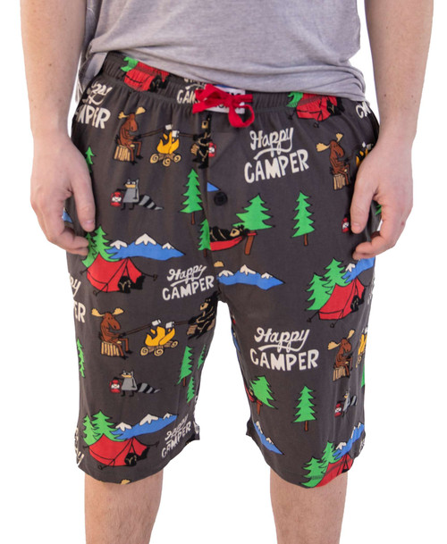 Happy Camper Men's Pajama Shorts by Lazy One