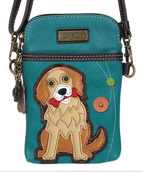 Golden Retriever Cell Phone Crossbody Bag by Chala