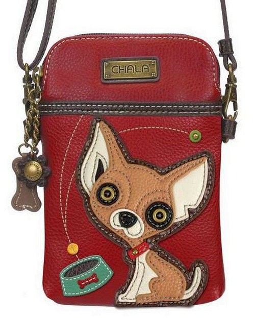 Chihuahua  Cell Phone Crossbody Bag by Chala