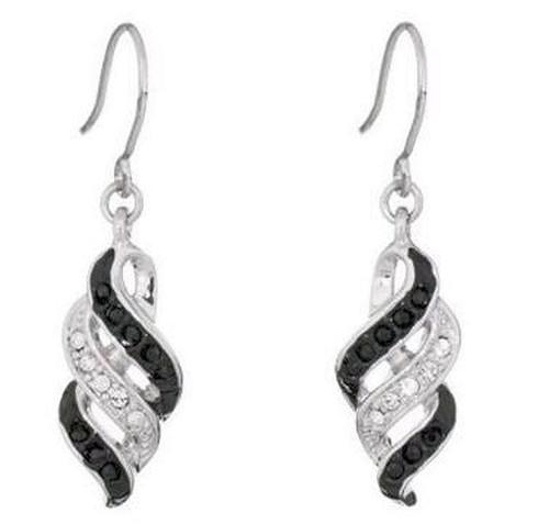 Annaleece Intensity Earrings Rhodium Plating Swarovski Crystals