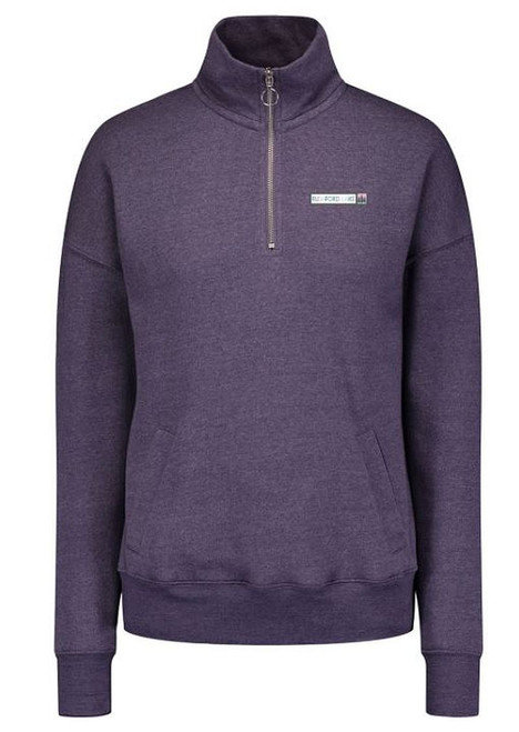 Rushford Lake Ladies 1/4 Zip Purple Dusk Cotton/Polyester Fleece Pullover