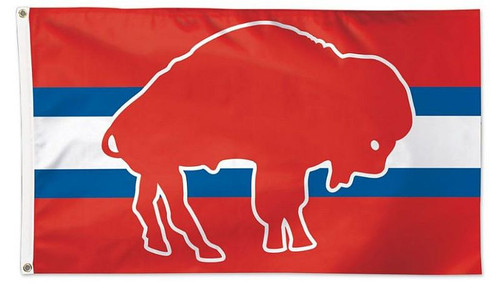 This 3' x 5' flag is the premium option for your flag pole, fan cave, or anywhere you want to display your team pride.  Made with durable fabric, two grommets, and quality stitching, including a quad-stitched fly end. Made in the USA. Officially licensed.