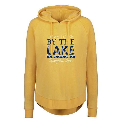 Ladies Sunglow Fleece Hood Love To Be By The Lake -Rushford Lake