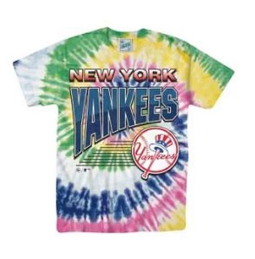NY Yankees  Mens Vintage Tubular Tie Dye Tee