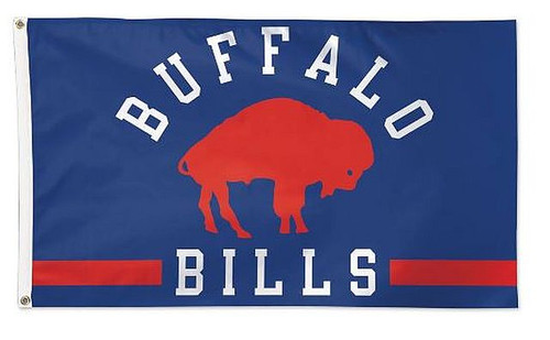 3' x 5' flag is the premium option for your flag pole, fan cave, or anywhere you want to display your team pride.  Made with durable fabric, two grommets, and quality stitching, including a quad-stitched fly end. Made in the USA. Officially licensed.