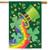 St Patrick's Luck with Rainbow House Flag