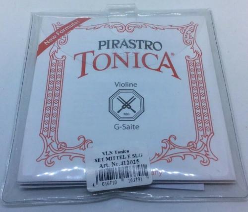 Pirastro Tonica Series Violin E String 4/4 Size Silvery Steel Loop End