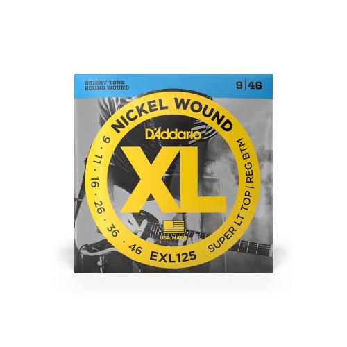 D'Addario Electric Guitar Strings Super Lt T/ Reg B EXL125 Nickel Wound 09 - 46