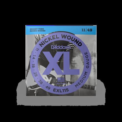 D'Addario Electric Guitar Strings Medium Gauge EXL115 Nickel Wound 11 - 49