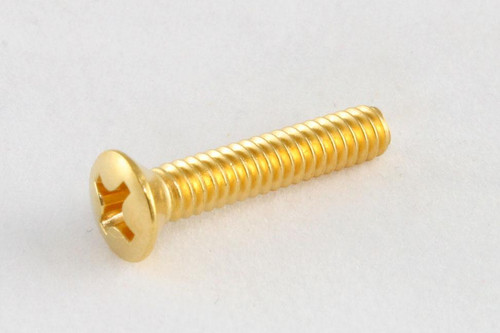 Single Coil Pickup Screws Countersunk GOLD Pair