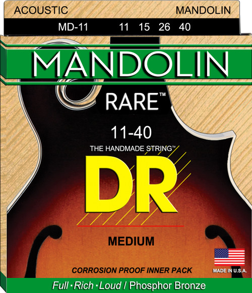 MANDOLIN:   11, 15, 26, 40  Acoustic MD-11-40 Rare Medium Phosphor Bronze