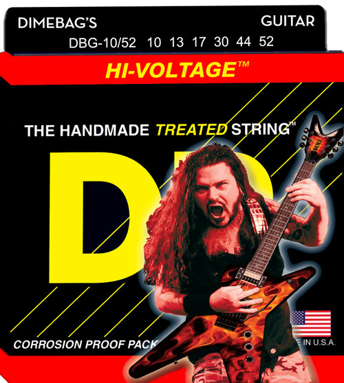 DR Dimebag Darrell Nickel Plated Electric: 10, 13, 17, 30, 44, 52