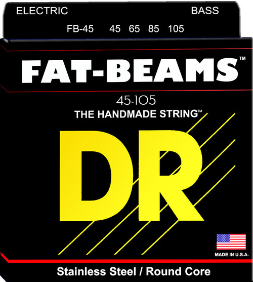 DR Fat-Beams Stainless Steel/Round Core 45-105 Bass String 45 65 85 105 4-String