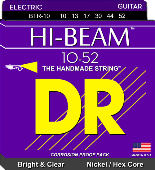 DR Hi-Beam 10-52 Bright & Clear Nickel/Hex Core BTR-10 10 13 17 30 44 52