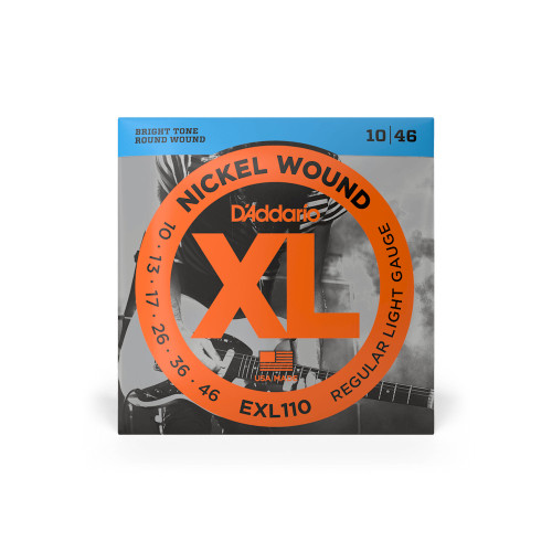 D'Addario Electric Guitar Strings Regular Light Gauge EXL110 10-46